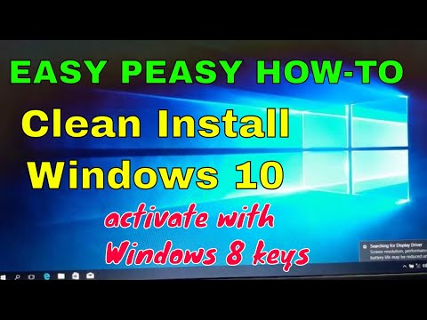 Clean Install Windows 10 with Windows 8 key
