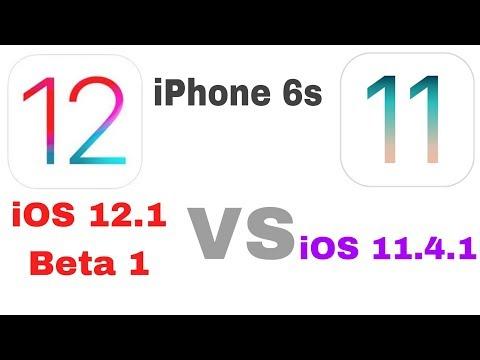 iOS 12.1 beta 1vs iOS 11.4.1 speed test on iPhone 6s | iSuperTech