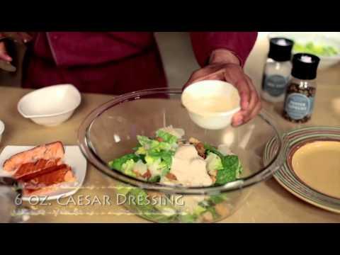 Caesar Salad with Honey Smoked Salmon