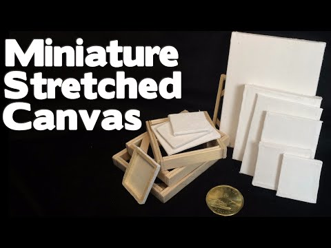DIY Miniature Stretched Canvas & Canvas Boards