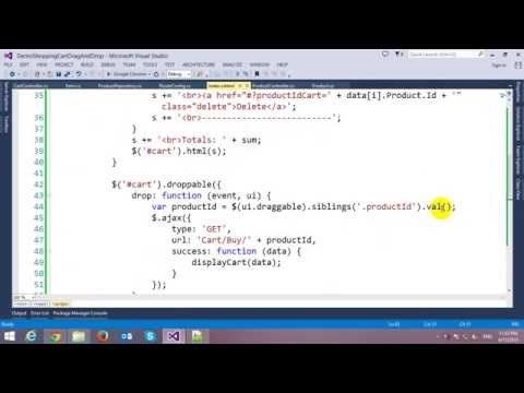 Drag and Drop Shopping Cart in ASP.NET MVC and JQuery