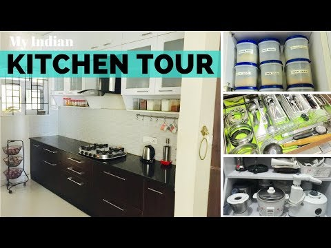 My Organized Indian Kitchen Tour - Ideas Useful For New Home Buyers & Existing Home Owners