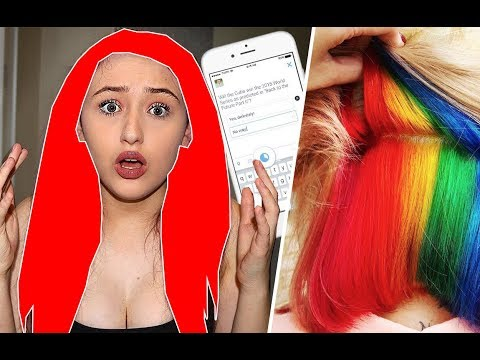 I Let My Subscribers Pick My Hair Color & i HATE IT