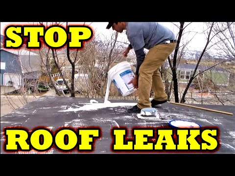 Mobile Home how to stop metal roof leaks with STA-KOOL elastomeric coatings