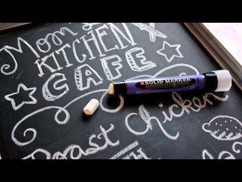 DIY Chalkboard Calendar & Menu Board for Your Home