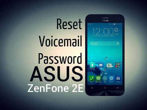 ASUS ZenFone 2E -  Change or reset voicemail password