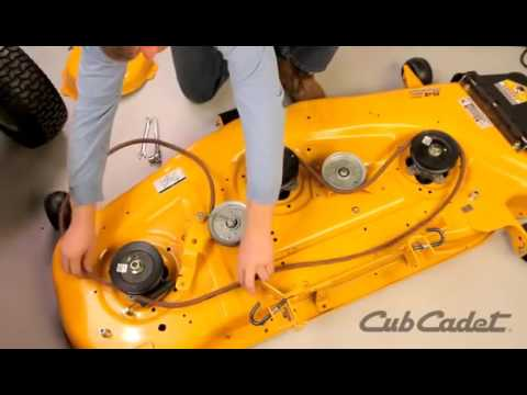 How to Change the Deck Belt on a Cub Cadet Riding Lawn Mower  Using Model 13AK92AK010