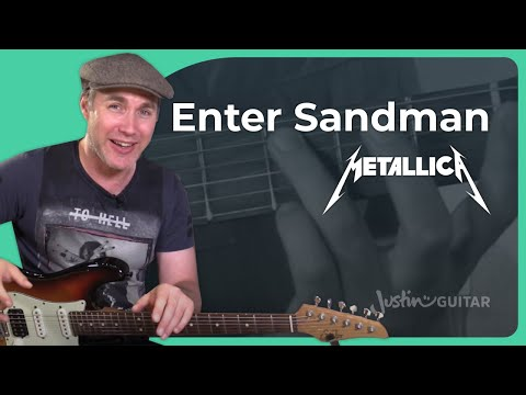 How to play Enter Sandman by Metallica - Guitar Lesson Tutorial (ST-372)