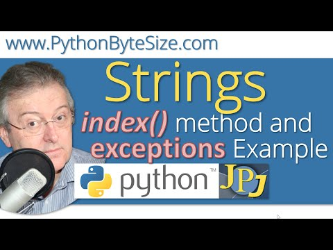 The Python index() method and exceptions