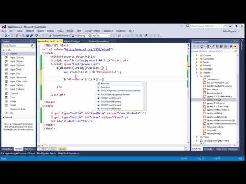 Part 11 Calling ASP.NET Web API in Jquery