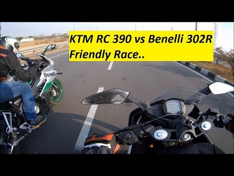 KTM RC 390 racing with Benelli 302R. Who WON?