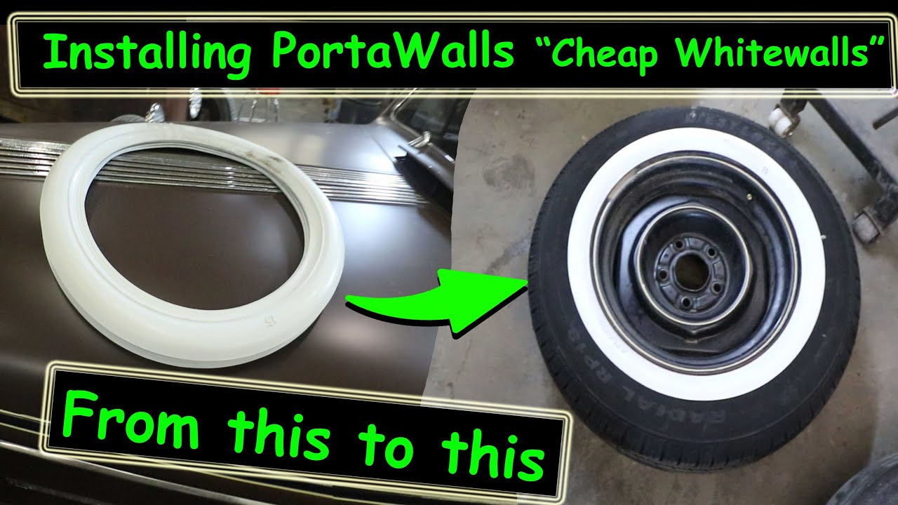How to install Atlas Portawalls aka cheap whitewalls