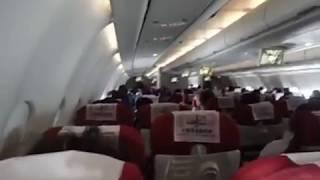 Heavy Turbulence over Shanghai with Turbulance Announcement