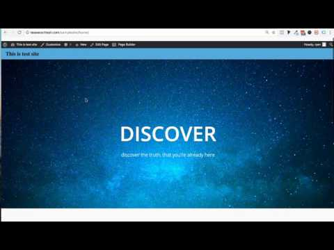 Creating Your home page- Tesseract Theme