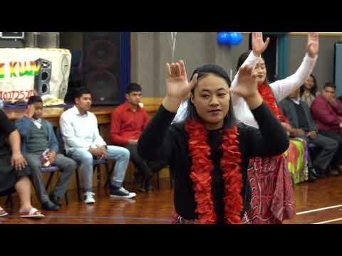 ELDER FATANI WELCOME BACK HULA DANCE BY SISTERS