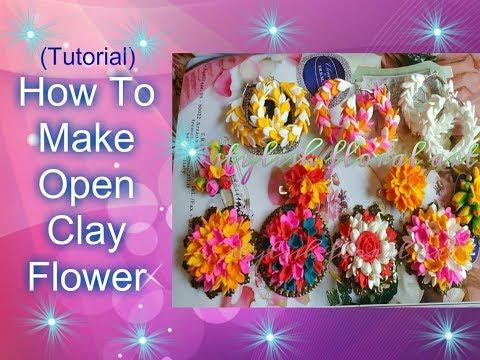 Easy Method Airdry Clay/Polymerclay Flower **Super Easy Tutorial**