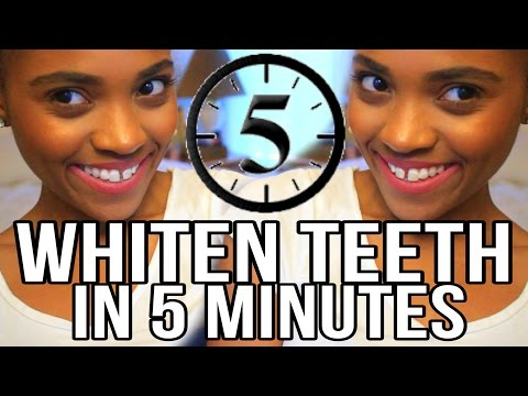 BEAUTY | How To Whiten Your Teeth in 5 Minutes!