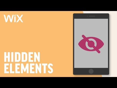 Hiding Elements in Mobile Editor | Wix Tutorial