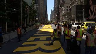 LIVE: Black Lives Matter slogan is painted in front of Trump Tower