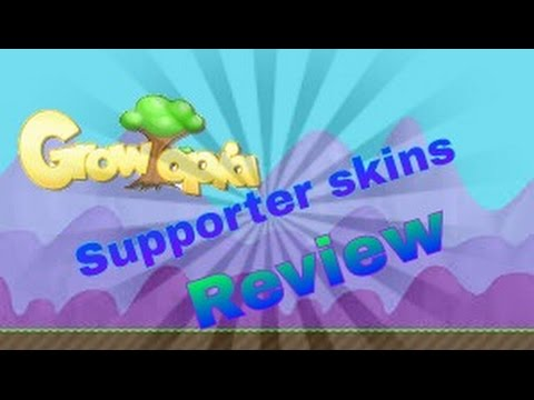 Growtopia Supporter skins review
