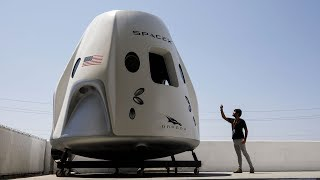 SpaceX shows off NASA astronauts and capsule