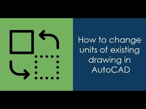 how to change units in AutoCAD drawing