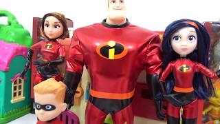 Learning Colors with THE INCREDIBLES 2 Characters Slime TOY SCHOOL Surprises