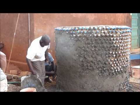 Water Tank built with Plastic Bottles