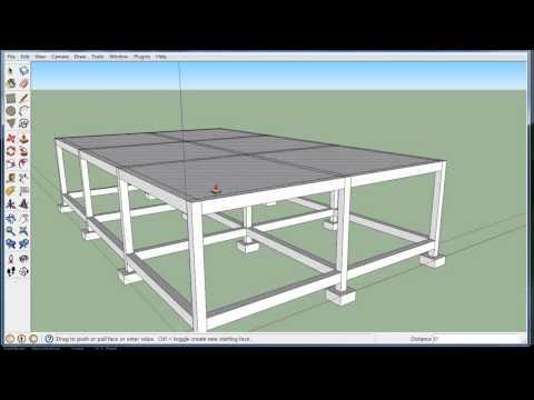 Build a concrete building (in Sketchup)