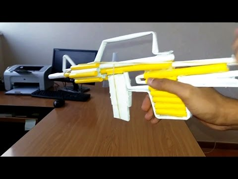 How To Make Paper Gun That Shoots Paper Bullets With Trigger | Handmade Paper Gun Tutorial