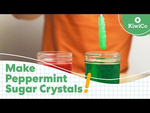 Grow Peppermint Sugar Crystals