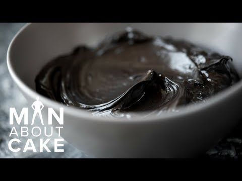 How to make ALL-NATURAL black buttercream | Man About Cake Gothic Cake Tutorial