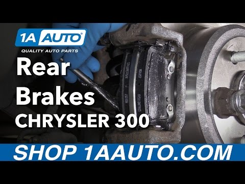 How to Install Replace Rear Brakes Pads Rotors 2005-14 Chrysler 300