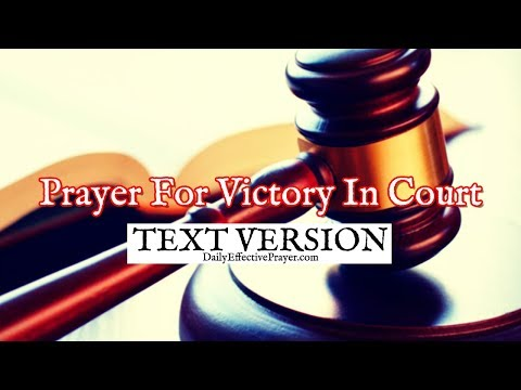 Prayer For Victory In Court (Text Version - No Sound)