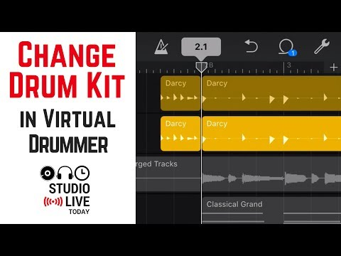 How to change a Drummer's drum kit in GarageBand iOS