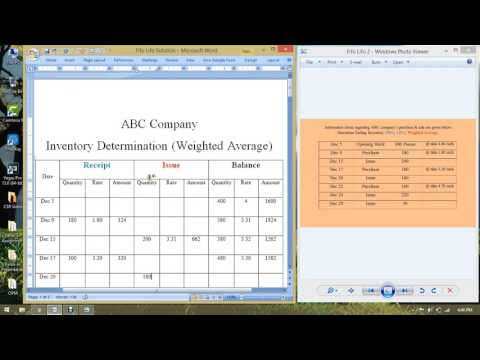 Principle of Accounting Weighted Average Inventory Method ।। Inventory Costing
