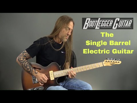 Steve Stine Demos the Bootlegger Single Barrel Electric Guitar - Check It Out!