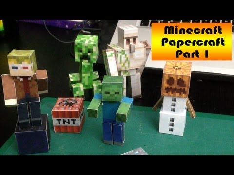 Make your own FREE Minecraft 3D paper models!
