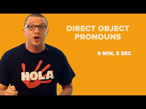 Direct Object Pronouns in Spanish, Compared to Subject Pronouns