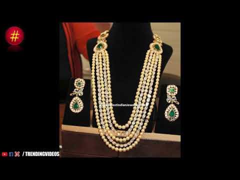 Latest Indian Sea Pearl Long Chain Designs - She Fashion