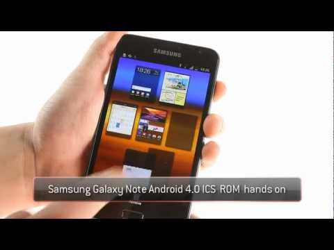 Samsung Galaxy Note Official Android 4.0 Ice Cream Sandwich update