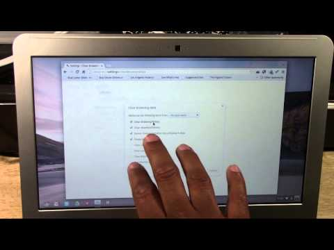 Chromebook: How to Clear Your Web History | H2TechVideos