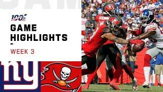 Giants vs. Buccaneers Week 3 Highlights | NFL 2019