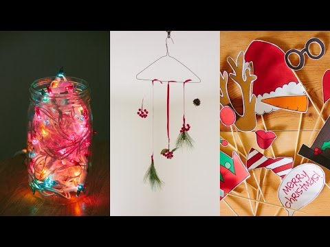 DIY christmas decorations + photo booth props