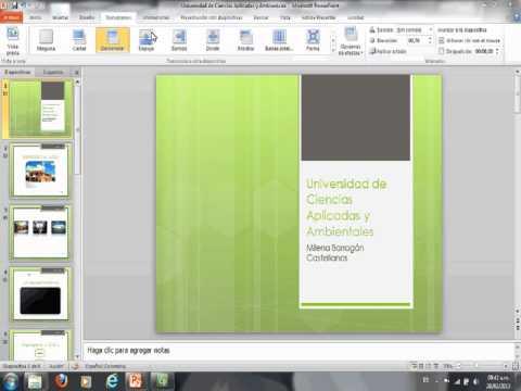 Word Art y efectos para la diapositiva - PowerPoint