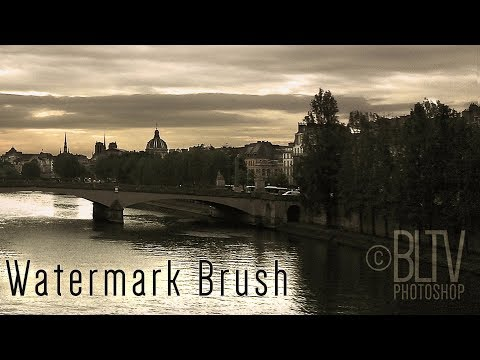Photoshop: How to Quickly Create a Customized Watermark Brush