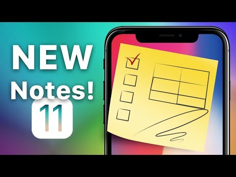 How to insert tables and sketches to Notes on iPhone with iOS 11