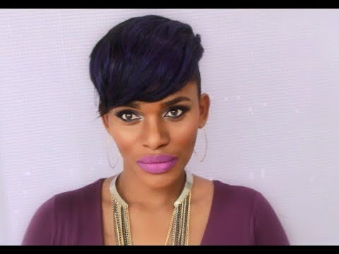 INSTANT FAB FRINGE | NO SEW-IN NO LEAVE OUT | CUSTOM PARTIAL WIG FOR SHAVED SIDES! // KIM NAEEMA