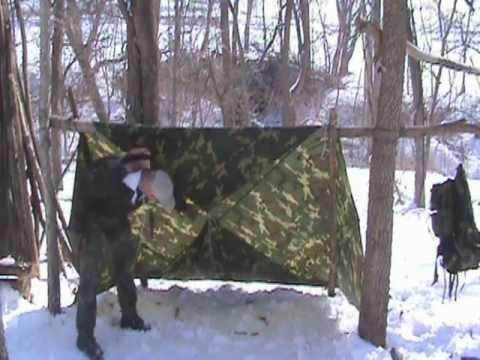 How To Build A Winter Tarp Shelter For Cold Weather
