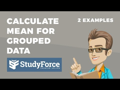 📚 How to calculate the mean for grouped data